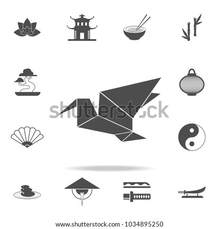 Origami Icon Set Chinese Culture Icons Stock Vector Royalty Free