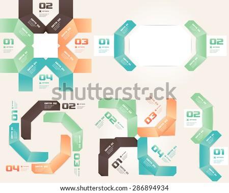 Origami Infographic Set - stock vector