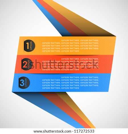 origami label (options) for your text, vector