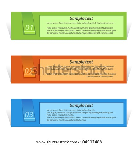 origami labels - stock vector