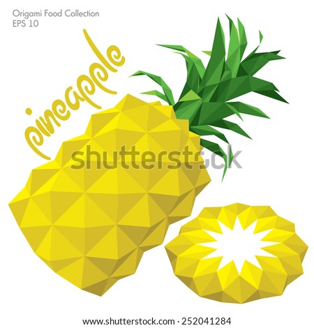 origami (low poly) pineapple