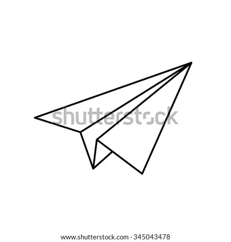 Paper Airplane Stock Illustration 292611752 - Shutterstock