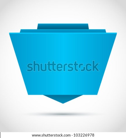 Origami paper banner for you design. Vector. - stock vector