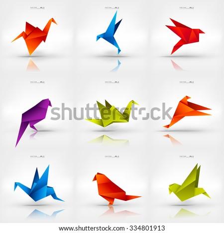 Origami Paper BirdVector IllustrationPolygonal ShapeArt Of FoldingJapan