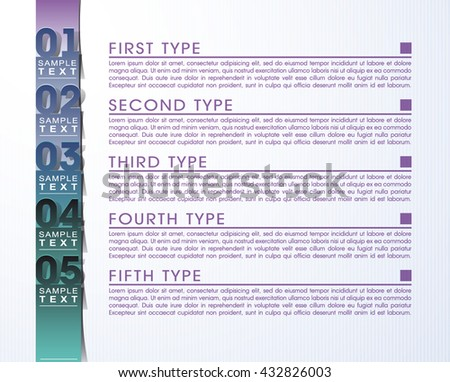 Origami paper infographic colorful banners set. Annotation ribbon. Advertising Design shape. Speech talking cloud. Vector label tag icons flat design. Modern presentation style with numbers option.