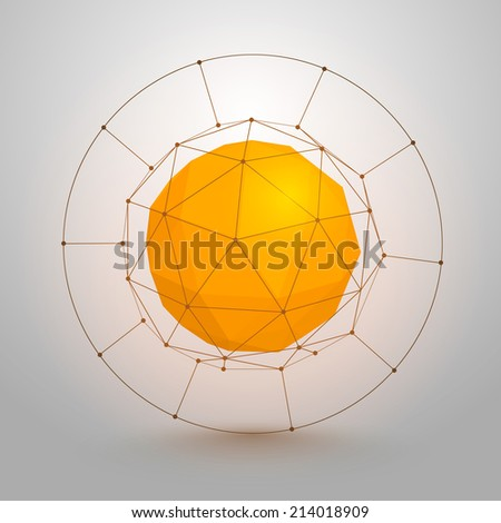 Origami Paper Sun 3d Sign Sphere Geometry Element Icon