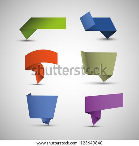 Origami Speech Bubbles - stock vector