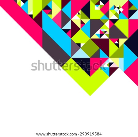 Origami style colorful background with geometric shapes