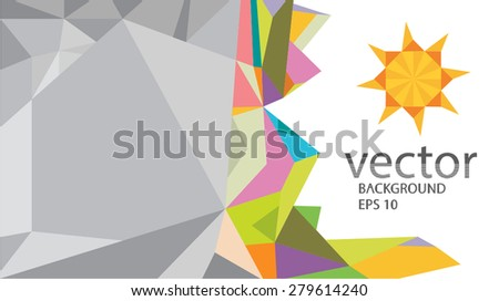 Origami Sun Paper Background Vector Stock 2018 279614240