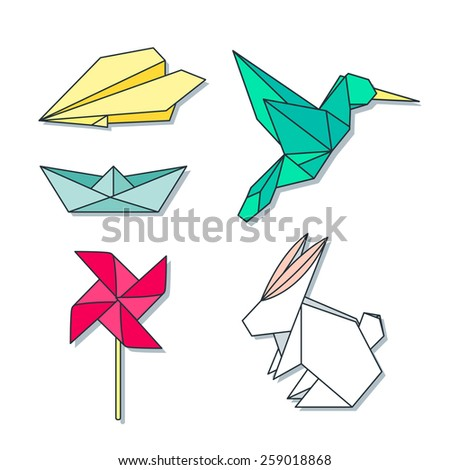 Origami toys and anima...