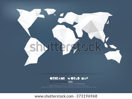 United states america vector illustration stock vector 602991839 origami world map paper collection vector illustration gumiabroncs Choice Image