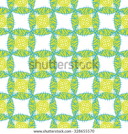 Original abstract pattern in green. Multicolor vector illustration for textile. Colorful multicolor original vector illustration.