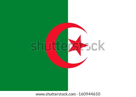 original and simple Algeria flag isolated vector in official colors and Proportion Correctly