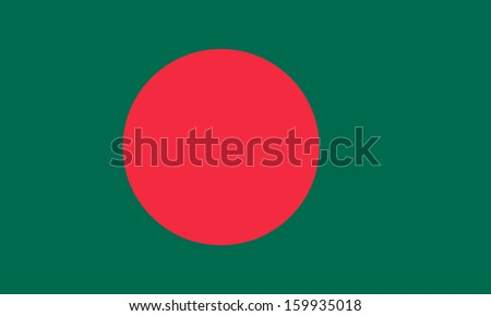 original and simple Bangladesh flag isolated vector in official colors and Proportion Correctly - stock vector