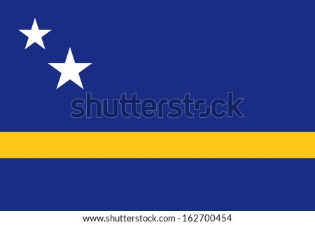 original and simple Curacao flag isolated vector in official colors and Proportion Correctly - stock vector