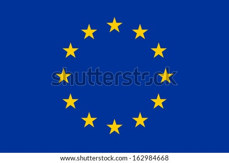 original and simple Europe flag (EU) isolated vector in official colors and Proportion Correctly - stock vector