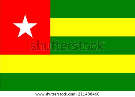Original and simple Gambia vector flag isolated vector in official colors and Proportion Correctly  - stock vector