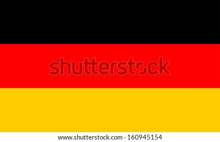 original and simple Germany flag isolated vector in official colors and Proportion Correctly - stock vector