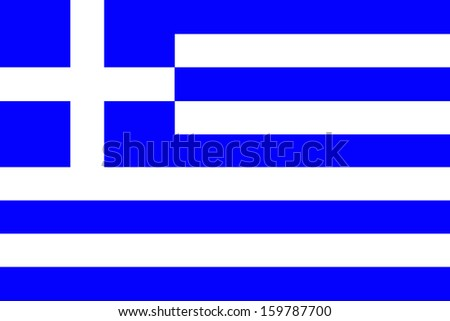 original and simple Greece flag isolated vector in official colors and Proportion Correctly - stock vector
