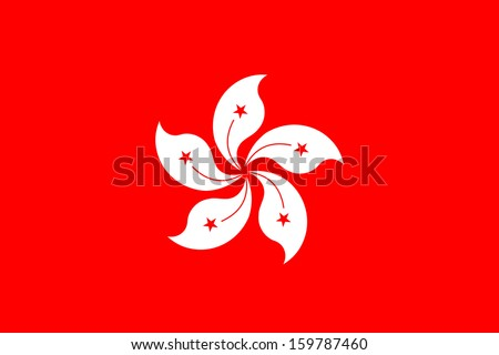 original and simple Hong Kong flag isolated vector in official colors and Proportion Correctly - stock vector