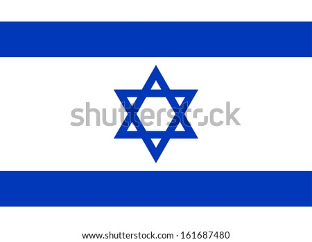original and simple Israel flag isolated vector in official colors and Proportion Correctly - stock vector