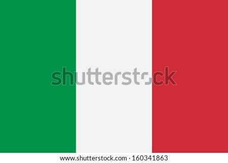 original and simple Italy flag isolated vector in official colors and Proportion Correctly