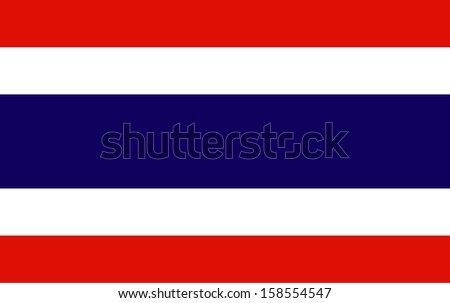 original and simple Kingdom of Thailand flag isolated vector in official colors  and Proportion Correctly THAI The Thailand is a member of Asean Economic Community (AEC)