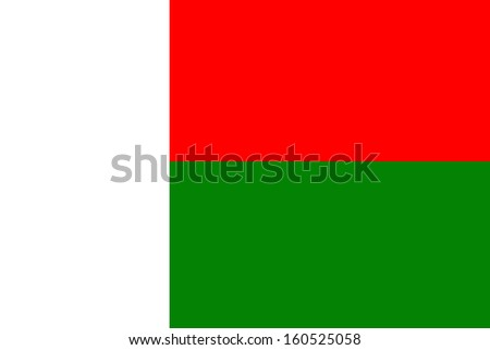 original and simple Madagascar flag isolated vector in official colors and Proportion Correctly - stock vector