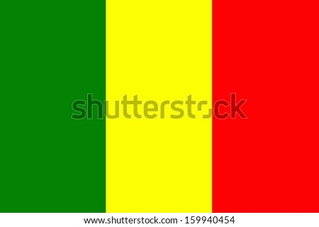 original and simple Mali flag isolated vector in official colors and Proportion Correctly - stock vector