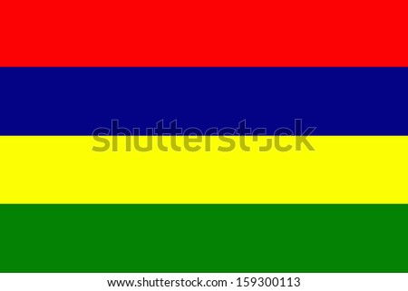 original and simple Mauritius flag isolated vector in official colors  and Proportion Correctly