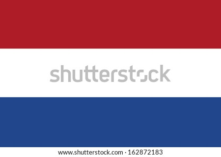 original and simple Nederlands, Netherlands or Holland flag isolated vector in official colors and Proportion Correctly