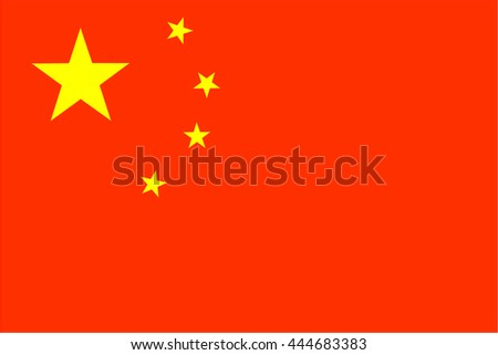 original and simple People's Republic of China flag isolated vector in official colors and Proportion Correctly