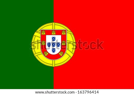 original and simple Portugal flag isolated vector in official colors and Proportion Correctly - stock vector