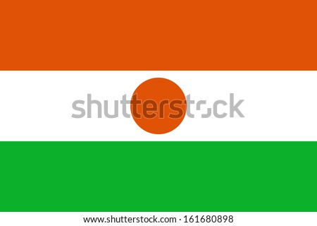 original and simple Republic of Niger flag isolated vector in official colors and Proportion Correctly (2:3) - stock vector