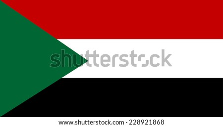Original and simple Sudan flag isolated vector in official colors and Proportion Correctly. - stock vector