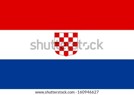 original and simple The Banate of Croatia flag isolated vector in official colors and Proportion Correctly