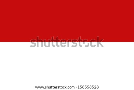 original and simple The Republic of Indonesia flag isolated vector in official colors  and Proportion Correctly The Indonesia is a member of Asean Economic Community (AEC) - stock vector