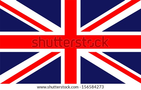 original and simple United Kingdom / England flag isolated vector in official colors  and Proportion Correctly