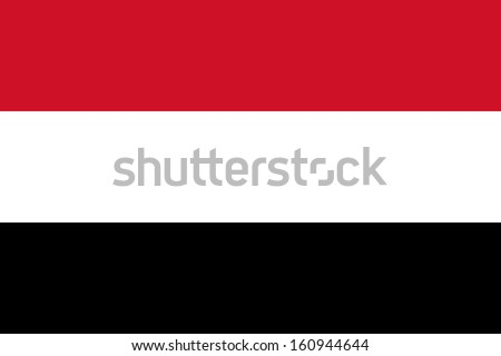 original and simple Yemen flag isolated vector in official colors and Proportion Correctly - stock vector