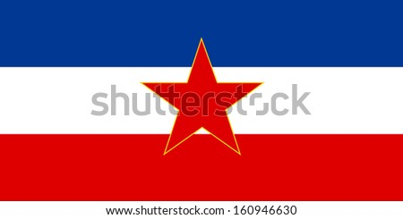 original and simple Yugoslavia flag isolated vector in official colors and Proportion Correctly