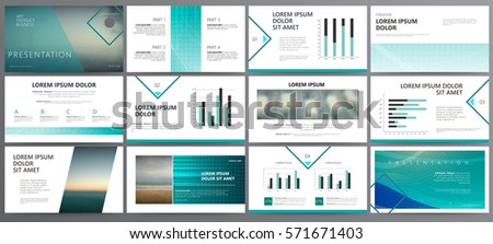 original blue presentation templates or corporate booklet easy use in creative flyer and style info
