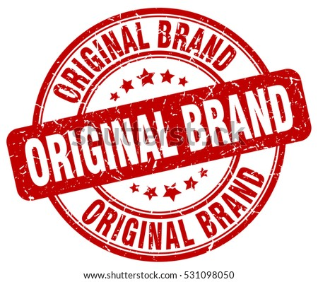 original brand. stamp. red round grunge vintage original brand sign
