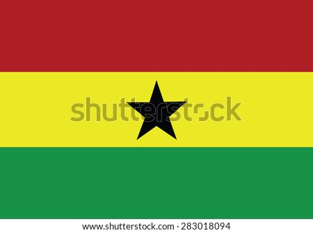 original Flag of Ghana isolated vector in official colors and Proportion Correctly - stock vector