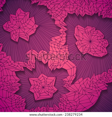 Original hand drawn abstract background, vector eps10 illustration - stock vector