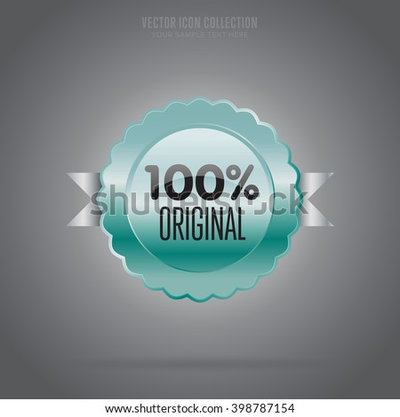 Original icon. Original badge. Isolated rosette icon. Vector badge with original text. Special offer sign. Original sign. Advertisement sign. Business sign. Original sign template. Vector illustration - stock vector