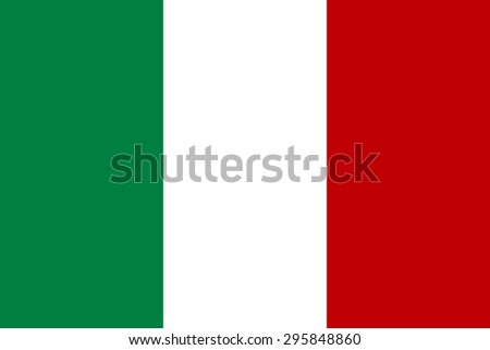 Original Italy flag vector in official format and true colors. - stock vector