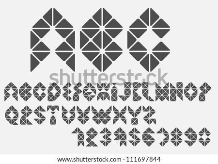 Original mosaic Alphabet. Vector eps10 - stock vector
