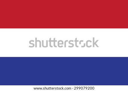 Original Netherlands or Holland flag vector in official format and true colors. - stock vector