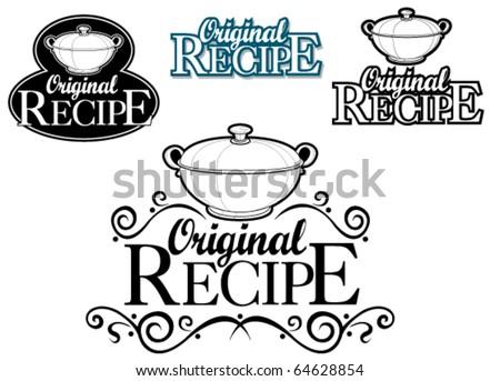 Original Recipe Seal / Mark - stock vector