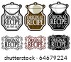 Original Recipe Seal / Mark / Icon - stock vector